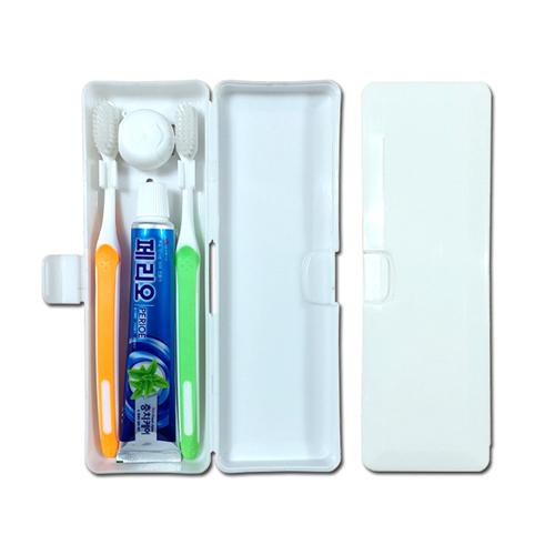 [페리오치약]  미세모 칫솔 치실 커플 4종 세트 (PP)