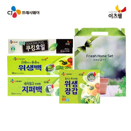 [CJ프레시웨이 이츠웰] 프레쉬홈 4종(대)(위생백,지퍼백,위생장갑,호일)