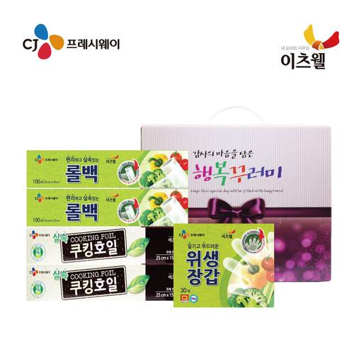 [CJ프레시웨이 이츠웰] 행복5종(호일2P, 롤백2P, 장갑1P)(대)