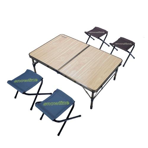 [스노우라인] 2폴딩 테이블 체어 세트 SN75UTA002