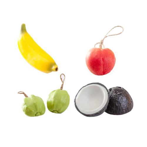 [샤보레] 방향제 천연수제 과일비누 4종(바나나, 복숭아, 구아바, 코코넛)