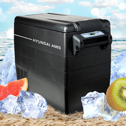 [HYUNDAI AMIS] 캠핑 냉동·냉장고 52L (사은품증정-케이스, 바스켓, 220V어댑터)
