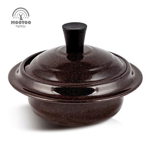 [무투] 황토도자기코팅 IH 초경량 무쇠가마솥 16cm