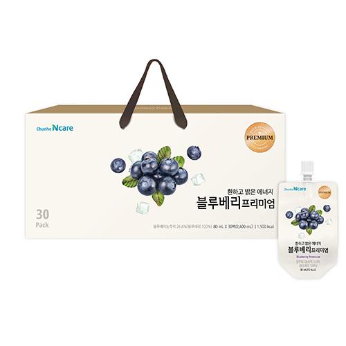 [천호식품] 환하고 밝은 에너지 블루베리 프리미엄 (80mL*30개입)