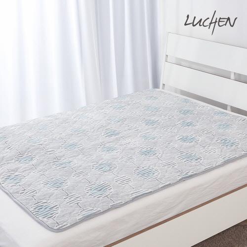 [루첸] 컬러 번아웃 소프트 온열매트 싱글 SAE-A105 (블루)