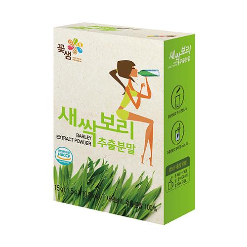 [꽃샘식품] 새싹보리 추출분말 10스틱 (1.5g*10입)