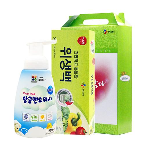 CJ위생백(대),핸드워시 2종세트