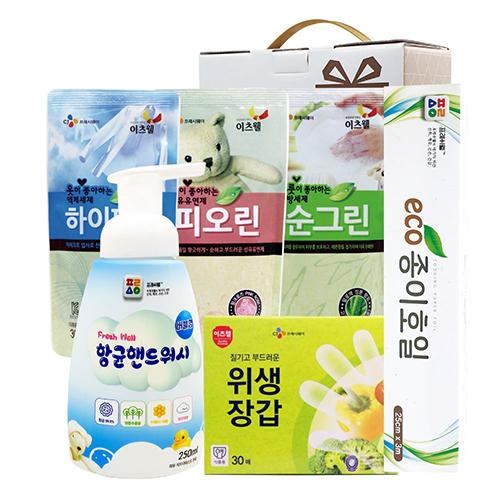 CJ순그린,피오린,하이파워,위생장갑30매,종이호일,핸드워시 6종세트