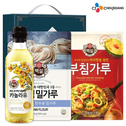 [CJ] 백설카놀라유 밀가루 부침가루(3종)