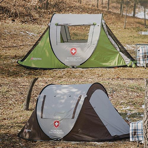 [몽크로스] 원터치 텐트 3~4인용 (색상택일) PMC-1002