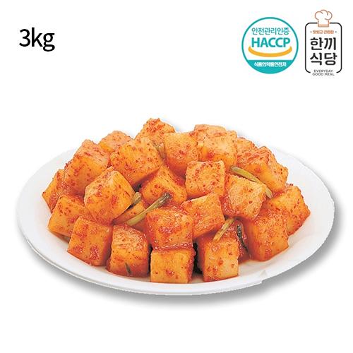 [한끼식당] 우리 농산물 100% 깍두기 3kg